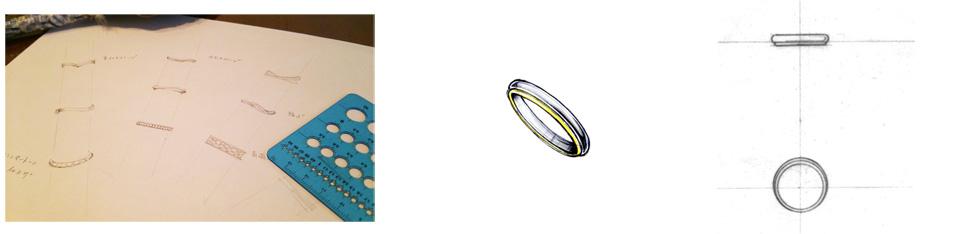 吉祥寺 鍛造 結婚指輪 design studio Emu