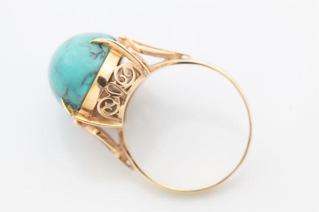指輪サイズ直し中石付き指輪