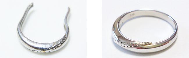 切れた指輪の修復