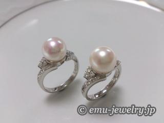 アコヤ真珠のリング
