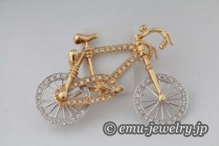 自転車のブローチ